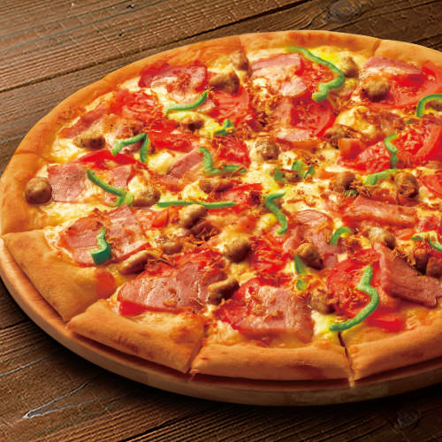 イベリコ豚ベーコンのピザ