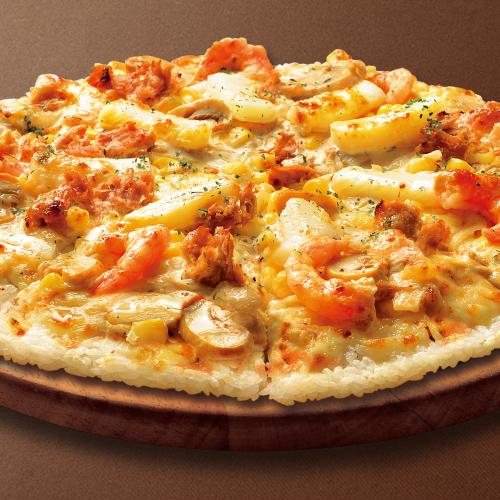 海鮮ライスピザ